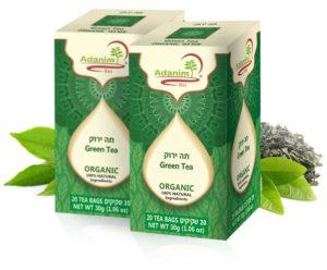 תה ירוק (אורגני) עדנים - 2 יח'