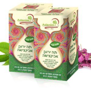 תה ירוק עם אכינציאה (אורגני) עדנים - 2 יח'