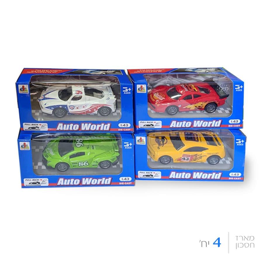 מכונית מרוץ ממתכת - 4 צבעים (4 יח')