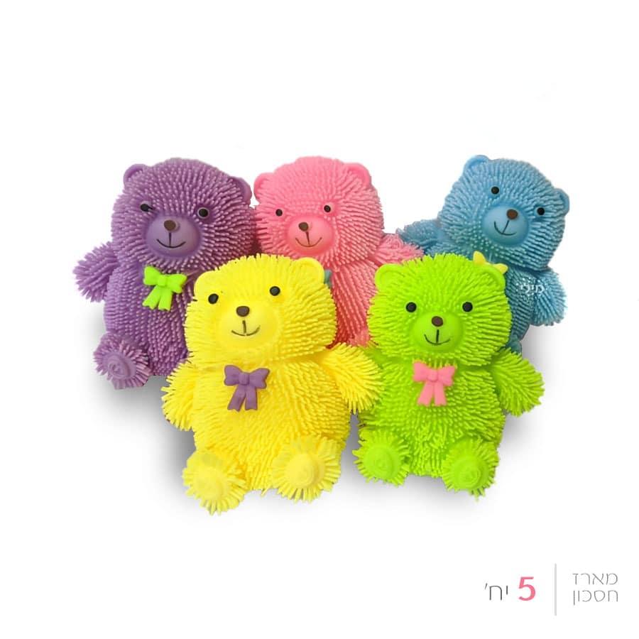 קיפודור דובי קטן עם פרח מגוון צבעים (5 יחידות)