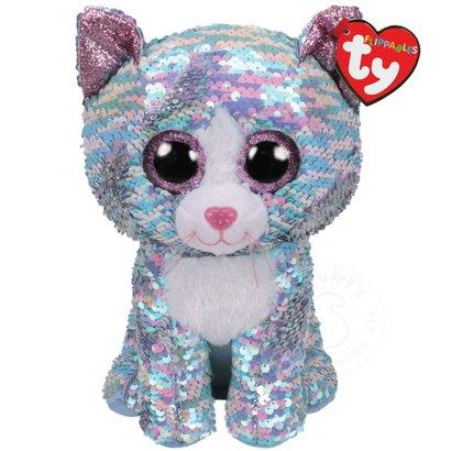 בובת TY פאייטים - וימסקי החתול הכחול (S)