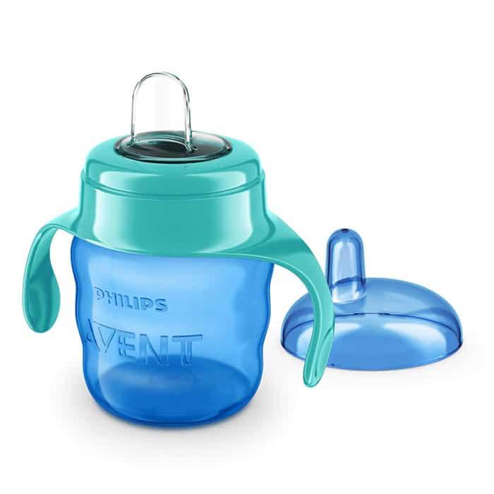 """כוס מעבר אוונט 6m+ (פיה קשיחה) 200מ""""ל – כחול"""