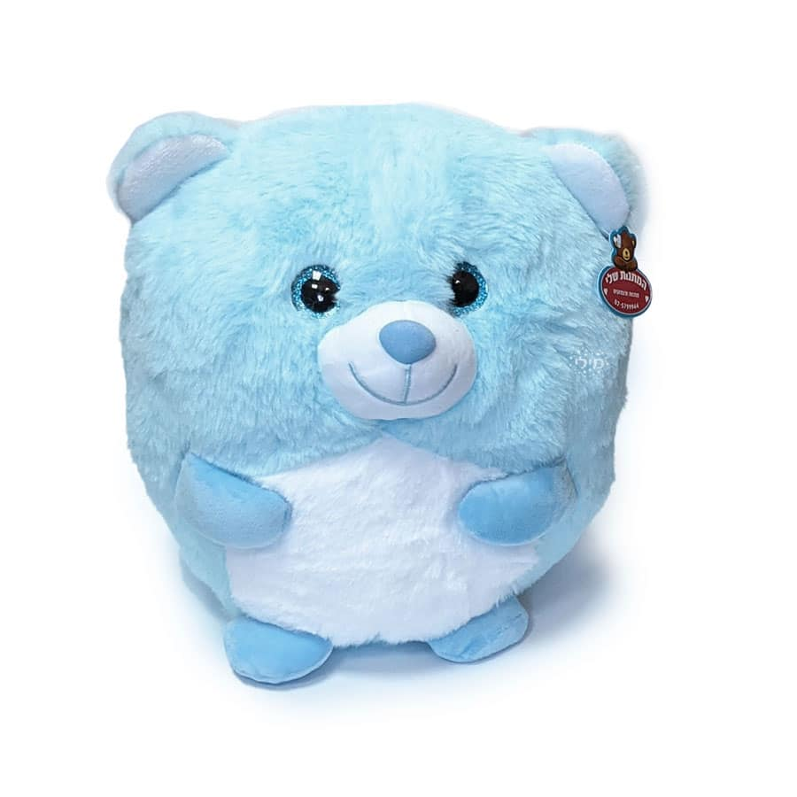 """דובי כחול עגלגל רך ונעים (25 ס""""מ)"""