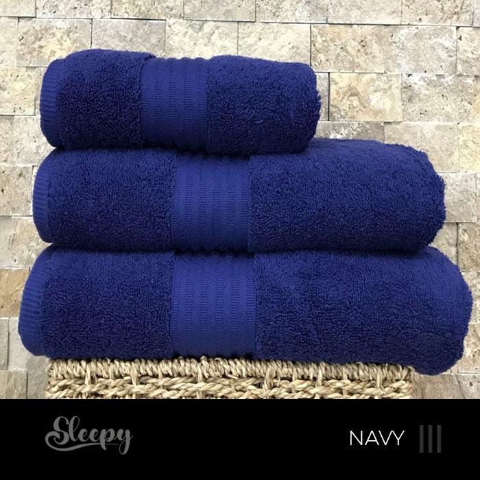 מגבות רכות כחול נייבי סליפי