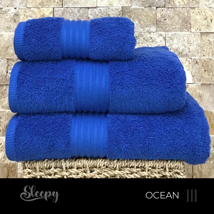 מגבות רכות כחול אוקיינוס
