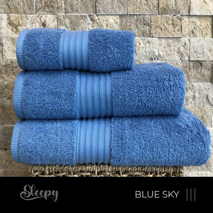 מגבות רכות כחול שמיים סליפי