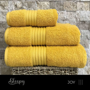 מגבות רכות צהוב ג'וי סליפי