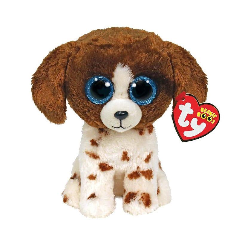 בובת TY - כלב חום לבן (S)