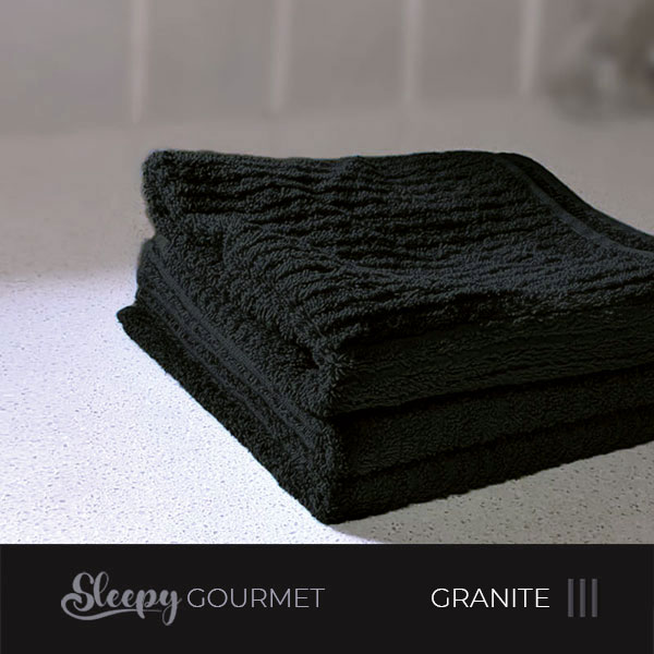 מגבות מטבח איכותיות - שחור גרניט סליפי