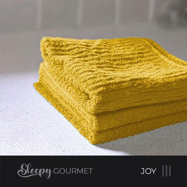 מגבות מטבח איכותיות - צהוב ג'וי סליפי