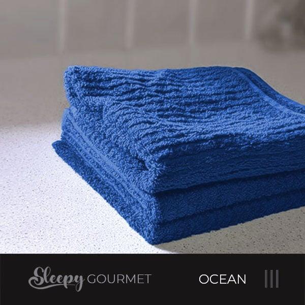 מגבות מטבח איכותיות - כחול אוקינוס סליפי