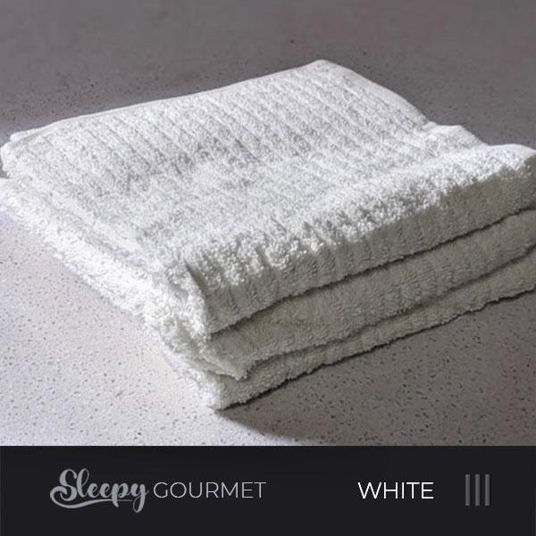 מגבות מטבח איכותיות - לבן סליפי