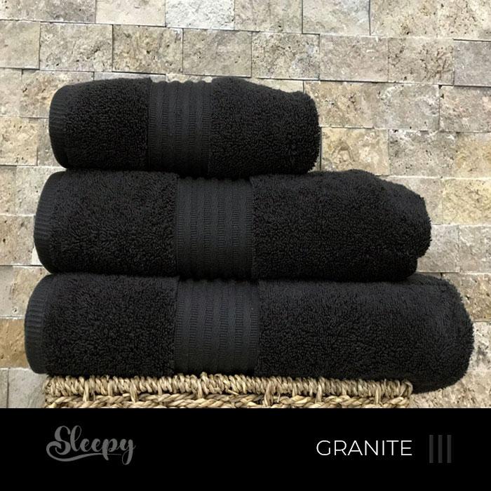 מגבות רחצה איכותיות - שחור גרניט סליפי